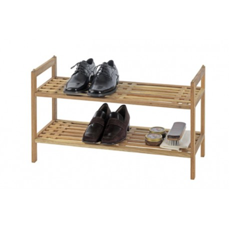 Zapatero apilable de madera norway de wenko for Zapatero para bano