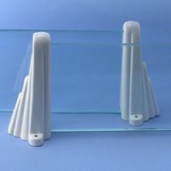 Repisa de baño porcelana/vidrio Barcelona 2 medidas