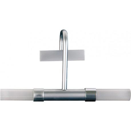Aplique lavabo moderno liberty exterior cromo mate 2x100w for Apliques exterior modernos